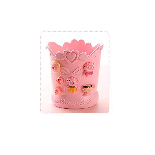 nt Stifthalter, multifunktionale Kosmetik Schreibwaren Büro Dekoration Schreibwaren, niedlich Desktop Storage Bucket (pink) Edler (Color : Pink, Style : 3) ()