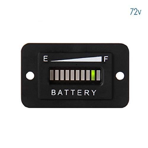 Wenjuersty Batterie-Tankanzeige LED 12-24V 36V 48V 72V Für Gabelstapler Golfwagen