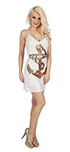 Karnevalsbud - Damen Karneval Motto-Party Sailor, knappes Matrosinnen Kleid Anker, M, (Katze Erwachsene Kostüme Funky)