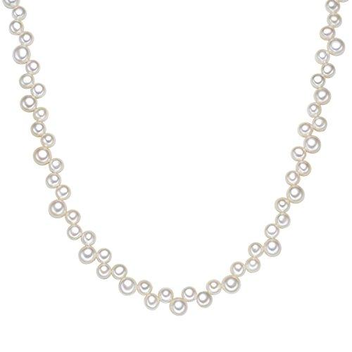 Valero Pearls Kette Süßwasser-Zuchtperlen weiß ca. 6,0-8,0 mm