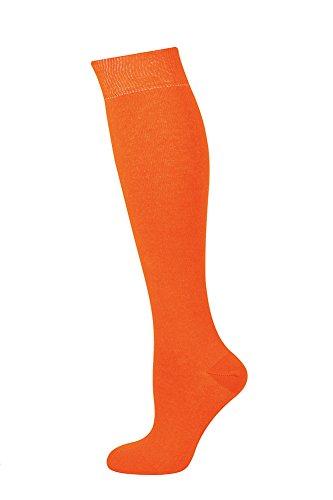 MySocks Unisex kniehohe lange Socken Orange -