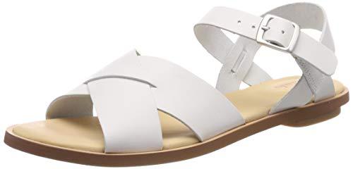 Clarks Willow Gild, Sandali con Cinturino alla Caviglia Donna, Bianco (White Leather-), 42 EU