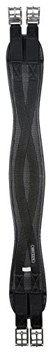 Kincade Anti-Chafe Shaped Elastic All Purpose Girth Girths 40 inch Black