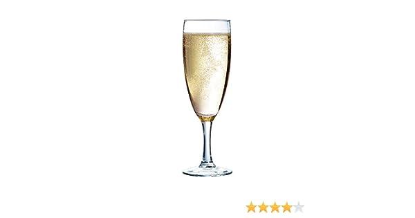 170ml senza contrassegno di riempimento Arcoroc Elegance 37298 Flute in vetro di champagne 12 pezzi