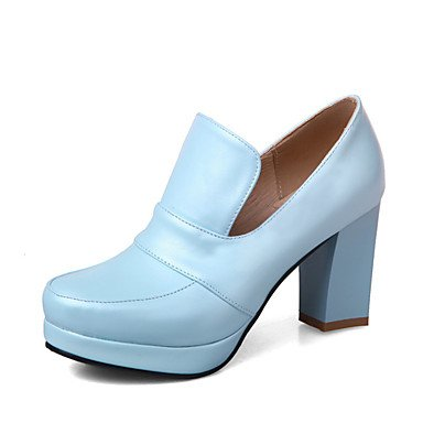 Abito talloni delle donne Primavera Altro similpelle ufficio & carriera casuale tacco grosso Nero Blu Rosa Bianco Altro Blue