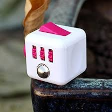ToyZHQ Fidget Toy Cube Toy Relieves Stress Anxiety ADHD for Adults and Children (Pink) -