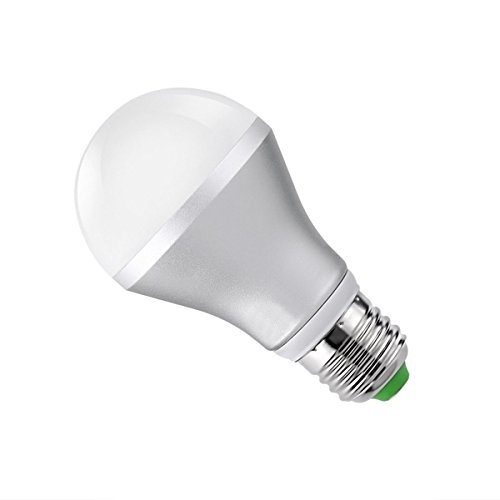 LiteXim Multi-Color Dimmable 16 Color Changing E27 5W LED Light Bulb Standard Light Socket with Remote Control (Silver)