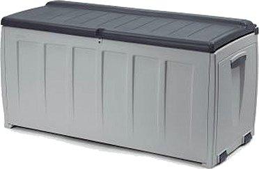 Kissenbox, Gartenbox, grau ohne Rollen