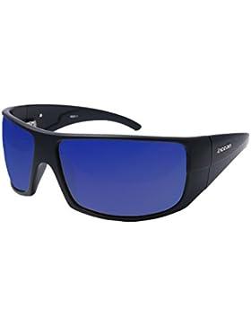 Ocean Sunglasses Brasilman - gafas de sol polarizadas - Montura : Negro Mate - Lentes : Azul Espejo (18301.2)