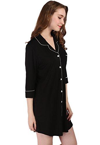 Vislivin Maglietta a maniche in moda femminile Black