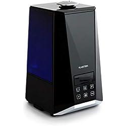 Klarstein VapoAir Onyx Humidificateur • Ioniseur commutable • Diffuseur d'arôme • 350 ML/h • Réservoir de 5,5L • LED • Minuterie • Arrêt Automatique • Noir