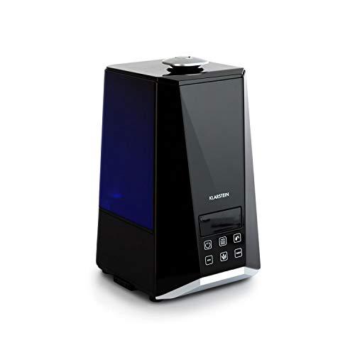 Klarstein VapoAir Onyx Humidificador • Ionizador Adicional • Difusor de Aroma • 350 ML/h • Depósito de 5,5 litros • LED • Temporizador • Autoapagado • Control táctil • Mando a Distancia • Negro