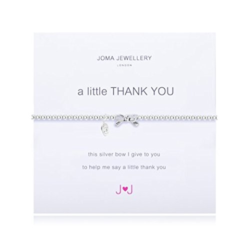 A Little Thank You Silver Bracelet By Joma Jewellery