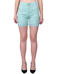 Tuk Tuks The Store Designer See Green Colour Designed Shorts for Women's/Girls