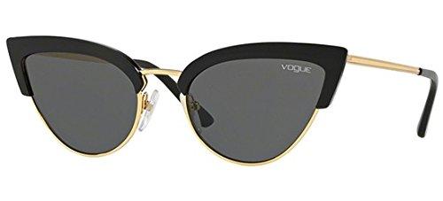 Vogue 0vo5212s w44/87, occhiali da sole donna, nero (black/gold/grey), 55