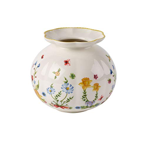 Villeroy & Boch Spring Awakening Große Vase, Porzellan, Gelb/Grün/Rot