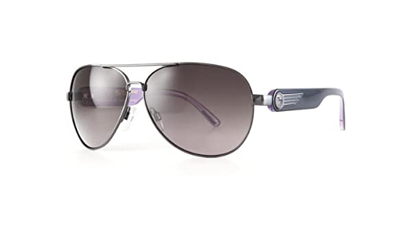 24fc4d59af Sundog 41060 BRAVO MELA Melanin Lens Technology Womens Aviator Golf  Sunglasses Gunmetal   Pink Frame with Smoke Lens  Amazon.co.uk  Clothing