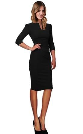 Drezz2Imprezz Etuikleid Business Kleid, 3/4 Arm, knielang