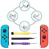 Boucles de Fermeture Joy-Con pour Nintendo Switch - Younik Kit à Outils de Réparation et Remplacement de Loquets Métalliques avec Tournevis et Pinces pour Switch NS Joy Con