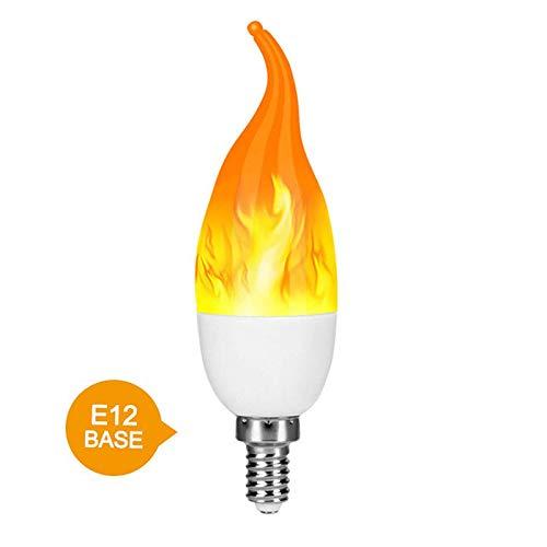 HONGFUTONG Flammeneffekt-Birnen-Licht LED-Kandelaber-Birnen-romantische Emulations-Birnen-flackerndes Feuer 4 Modi Kerzen-Birnen-Weinlese-dekorative Lichter (Lampen Led-kandelaber Basierten)