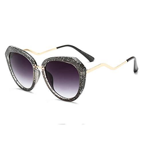 Taiyangcheng Polarisierte Sonnenbrille Sonnenbrille Frauen Vintage Cat Eye Sonnenbrille Übergroße Marke Bunter Rahmen Gebogene Beine Brillen Verlaufsglas Uv400,C2