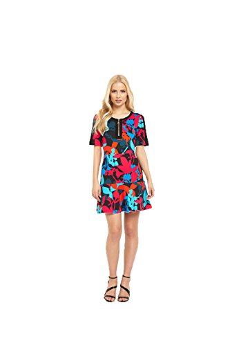 juicy-couture-ponte-matisse-floral-dress-in-pitch-black-size-4