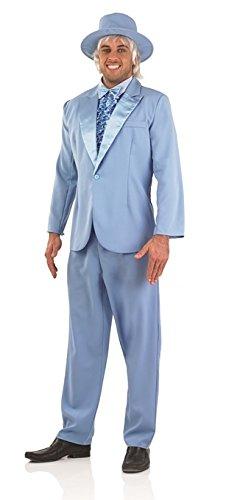 90er Jahre dumm und Dümmer Film Stecker blau Fancy Kleid Kostüm–M (UK 38–40) (Dümmer Und Dümmer Kostüme)