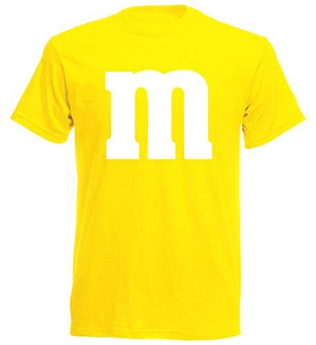 aprom T-Shirt Karneval M M Kostüm Gruppenkostüm Fasching JGA Party MM (XL, Gelb)