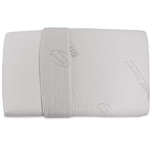 Baldiflex, cuscino in memory foam, modello saponetta, fodera in silver safe