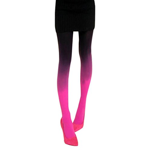 style_dress Damen Frauen Overknee Strümpfe Stützstrümpfe elastische Kniestrümpfe Oberschenkel Hohe StrümpfeFarbverlauf Strumpfhosen Leggings Socken ()