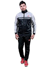 HPS Sports Tracksuit for men, tracksuits for mens, track suits for buys under, Regular Fit Silver Colour Polyester Fabric, slim fit summer, stylish trending casual and gym wear specially designed for athletic body exercise, training, workout, gyming, running, jogging, trekking, nightwear