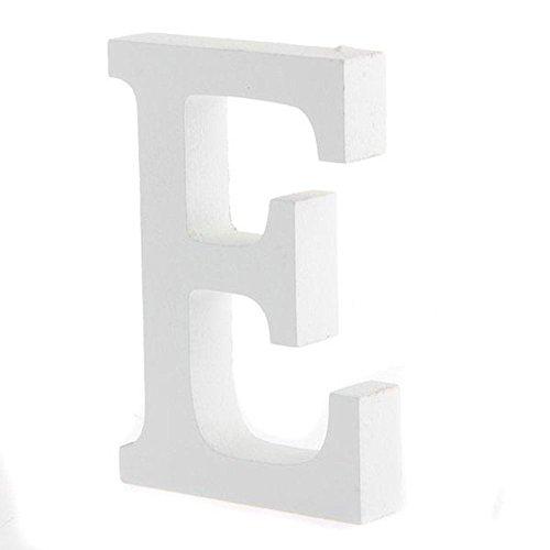buchstaben holz weiß,Worsendy Handwerk Holz Holz Briefe Braut Hochzeitsparty Geburtstag Spielzeug Home Dekorationen 8*6CM (E)