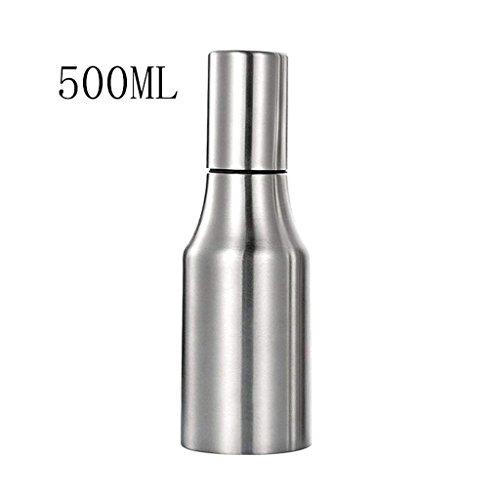 CLLCR Würzflasche 304Edelstahl Öltöpfe, Anti-Leck Ölflaschen, Soja-Sauce Flaschen, Continental Kreative Essig-Flaschen, Würzflaschen, Küche liefert,500ML Continental-sauce