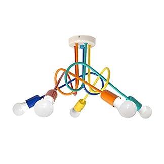 Plafoniera per bambini OXFORD 5xE27/60W/230V