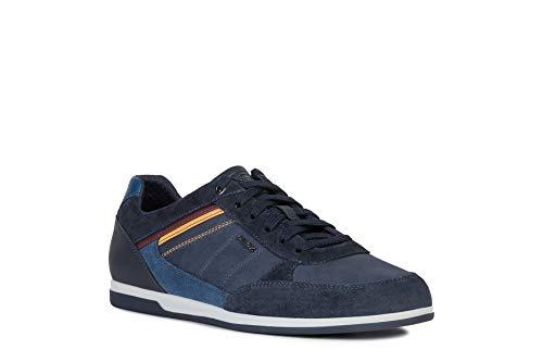 Geox Herren U Renan B Sneaker, Blau (Navy/Denim C4458), 42 EU