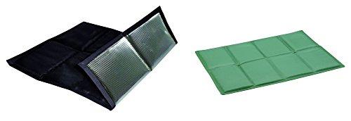 2er Set faltbares Sitzkissen Unterseite isoliert im Zugbeutel (schwarz - grün)
