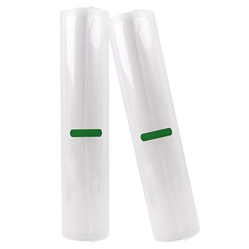 Folienrollen Schaumstoffrollen Vakuumfolien Materialstärke ca.160 µm Folienbeutel für Vakuumierer Caso Folienschweißgeräte BPA-frei LFGB Zertifizierung 30cm×600cm×2 Rollen