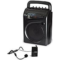 Fonestar ASH-26GU Alámbrico Negro - Amplificador de audio (15 W, 20 - 20000 Hz, 6.35mm, 6,3 mm, 3,5 A, 212 mm)