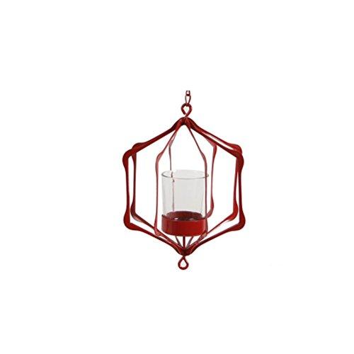 Clock ZI Ling Shop- Ornamenti Moderni della tavola della Candela del lampadario a Bracci Moderni del caffè Decorazione Domestica del Giardino Creativo (Colore : Rosso)