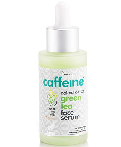 mCaffeine Naked Detox Green Tea Face Serum | Hydration| Vitamin C, Hyaluronic Acid | All Skin | Paraben & Mineral Oil Free | 40 ml