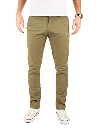 Vintage Khaki (Yazubi Chino Hosen für Herren Dustin by Yzb Jeans Slim fit Business Vintage Khaki Olive Chinohose Casual, Grün (Dusky Green 4R170517), W33/L30)