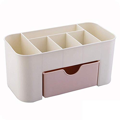 Honsin Vanity Drawer Beauty Organizer 6 Compartments with 1 Drawer Cosmetic Storage Box for Home Office Vanities Bathroom Counter-top