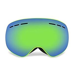 AIMADO Travel- Skibrille mit Beschlag- und UV-Schutz, Snowboardbrille mit austauschbarer, sphärischer Dual-Linse für Skifahren Wintersportarten