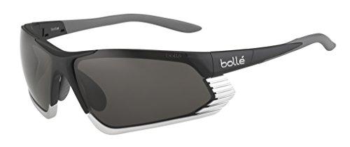 Bollé Cadence - Gafas de Sol Deportivas, Color Negro Mate/Plata