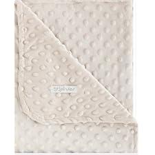 pirulos 64105100–Decke doppelseitig, 110x 140, Design Dots, Farbe Leinen