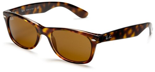 Ray-Ban Unisex Sonnenbrille New Wayfarer, Einfarbig, Gr. 52mm, Gelb (Yellow Brown Tortoise)