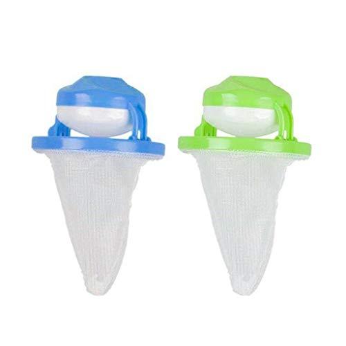 WARMWORD Waschmaschine, Filterbeutel aus Netzstoff, schwimmender Ball, Haarsammler (mehrfarbig) Incluye:1 PC (1 azul 1 verde) bunt -