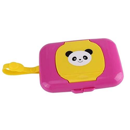 F Fityle Baby Kinder Feuchttücher Box Feuchttuchbox Kinderwagen Zubehör - Lila