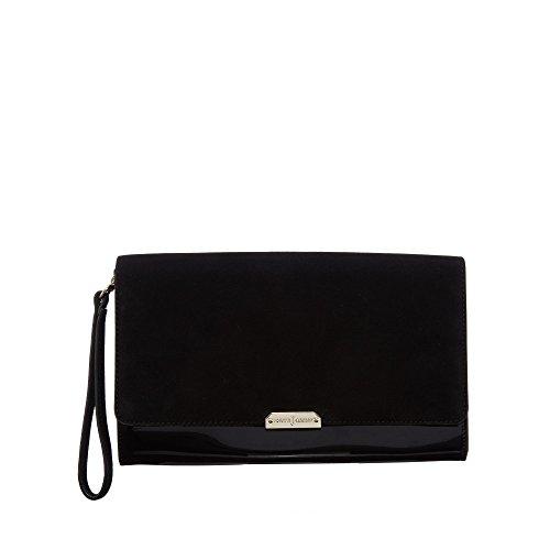 j-by-jasper-conran-womens-black-suede-clutch-bag