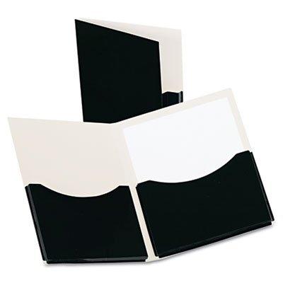 Double Stuff Gusseted 2-Pocket Laminated Paper Folder, 200-Sheet Capacity,